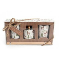 These sweetly scented wax candles inside lidded glass pots and a matching diffuser are part of a delightful new range
