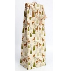 this large bottle bag is part of the delightfully festive Fig and Woodsage range