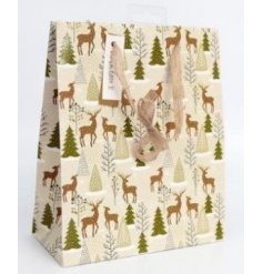 this medium sized gift bag is part of the delightfully festive Fig and Woodsage range