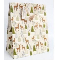 this large sized gift bag is part of the delightfully festive Fig and Woodsage range