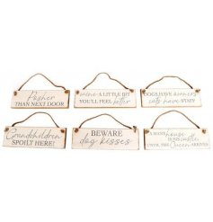 An assortment of Shabby Chic themed hanging plaques, each suitable for any room in the home!