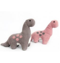 Cute and cuddly Dinosaur Door Stops in an assortment of Grey and Pink tones