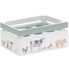 Useful Wooden Egg Storage Crate for half a dozen eggs, part of the Country Life Farm range