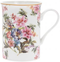 this assortment of  fine china mugs will be sure to add a vintage charm to any kitchen