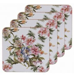 this set of 4 cork based Coasters will be sure to add a vintage charm to any kitchen or dining space