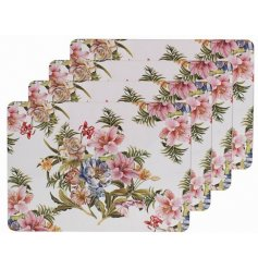 this set of 4 cork based placemats will be sure to add a vintage charm to any kitchen space