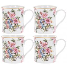 these Fine China Mugs will be sure to bring a vintage charm to any kitchen space