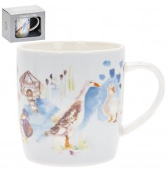 this Fine China Mug from The Country Life range will be sure to place perfectly in any kitchen