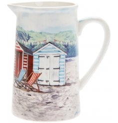 Bring a touch of the ocean to any home interior or kitchen theme with this beautifully finished 'Sandy Bay' themed jug