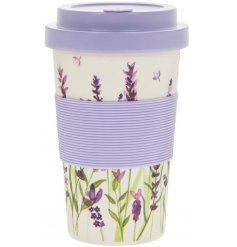 this eco friendly bamboo travel mug will be sure to add a spring feel to any morning coffee
