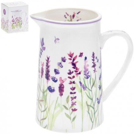 Lavender Garden Ceramic Jug