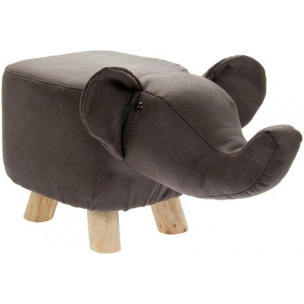 52 cm Grey Elephant Stool