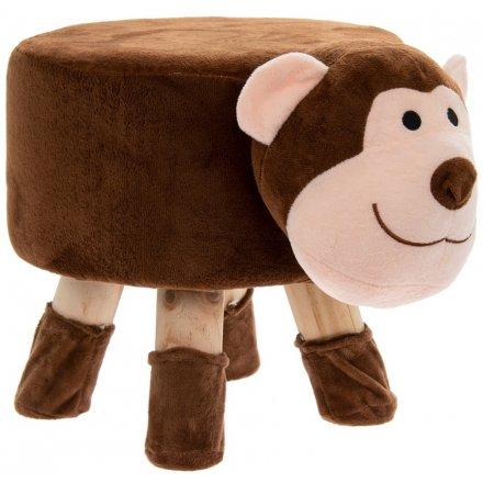 45 cm Beige Monkey Stool