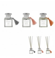 Choose between 3 aromas from the 'Desire' range of reed diffusers