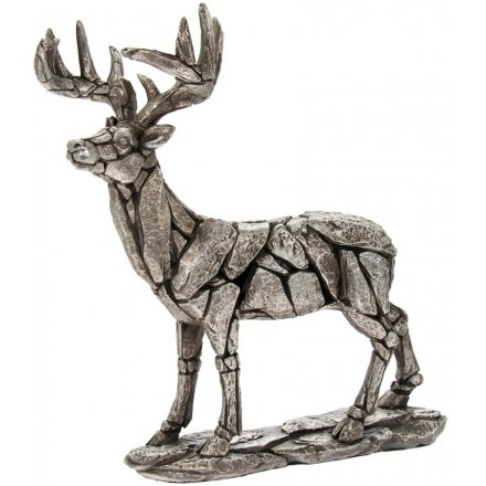 26 cm Silver Deer, Natural World Collection