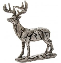 Silver resin stag from the natural world collection