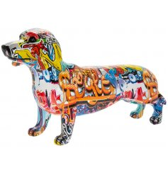 this ornamental dog figure will be sure to place perfectly in any quirky home or bedroom