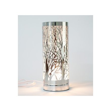 26 cm Woodland Tree Silver Touch Lamp