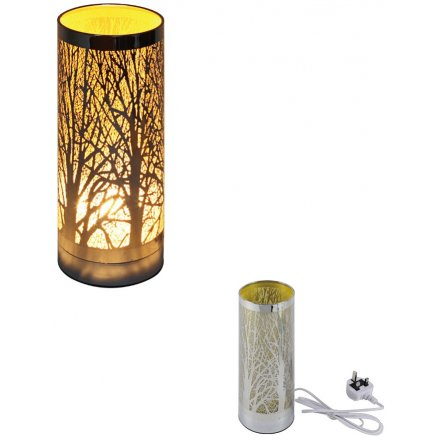 26 cm Woodland Tree Amber Touch Lamp