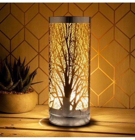 An elegant aroma lamp with 3 brightness levels. This touch operated lamp has 3 brightness levels