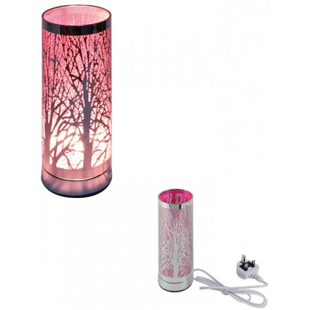 26 cm Woodland Tree Pink Touch Lamp
