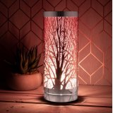A unique desire aroma lamp with 3 brightness levels. A touch operated light with a pink design.