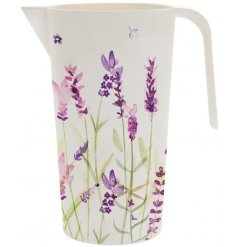 Pretty Lavender print eco friendly bamboo water jug