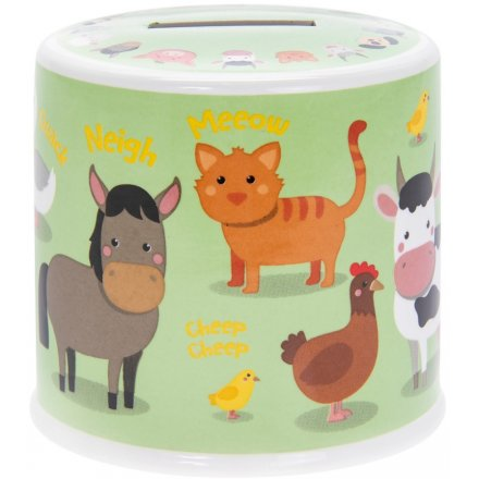 9 cm Little Stars Ceramic Farmyard Money Box