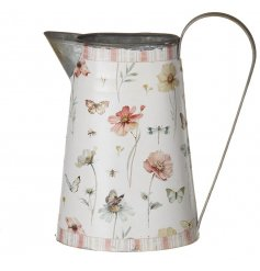 Embellished metal jug for display purposes