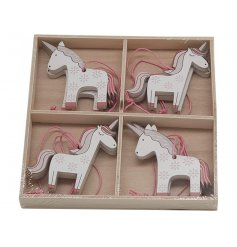 Bring a hint of magic to any space with these charming little unicorn hanging decorations
