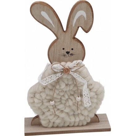 31 cm Woollen Body Bunny
