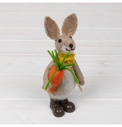 Part of an adorable new range of standing woollen bunny decorations each dressed up in their best attire