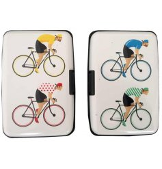 Cyclist theme contactless credit card protector case