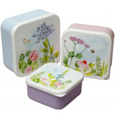 Set of nesting lunchboxes from the Botanical Gardens range. 3 sizes, made from BPA-free plastic