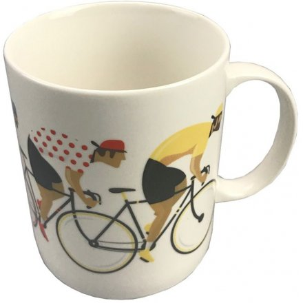 9 cm Cycle Works Bone China Mug Bicycle Race