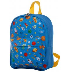 Small size backpack decorated with space alien themes from the space cadet range
