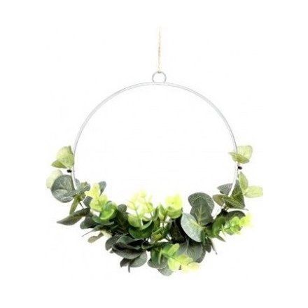 20cm Artificial Eucalyptus Wreath