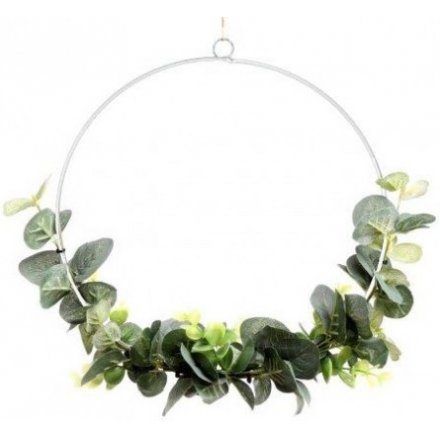 Artificial Eucalyptus Wreath, 26cm