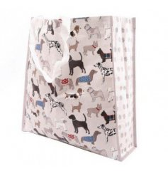 A stylish and practical shopping bag with a shabby chic inspired dog breed design. Featuring all of your favourite breed
