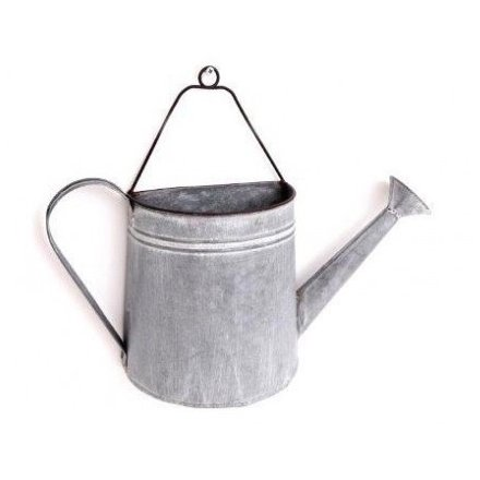 Ps0066 Zinc Metal Watering Can Wall Planter 35cm 48419 Homeware Decorative Accessories Gainsborough Giftware Ltd