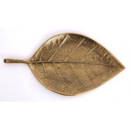 Vintage Gold Leaf Decoration 31.5 cm