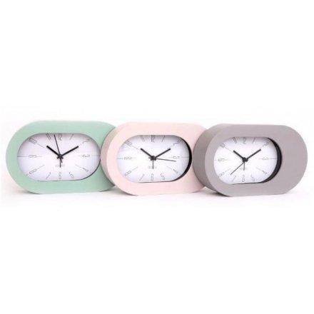 21 cm Oval Lozenge Contemporary Alarm Clock