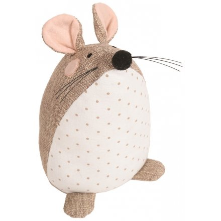 24cm Natural Mouse Doorstop