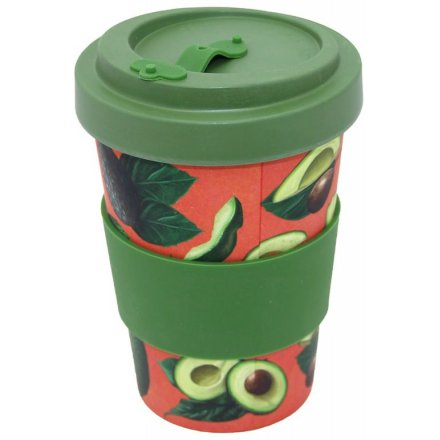 400ml Bamboo Travel Mug Avocado Print