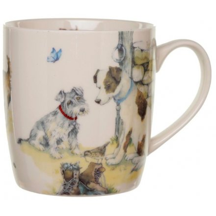 9cm Jan Pashley Dogs Illustration Bone China Mug