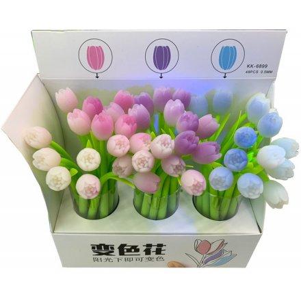 UV Colour Change Tulip Pen