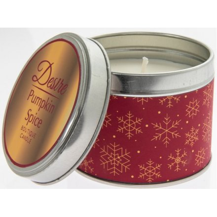 Pumpkin Spice Desire Seasonal Candle Tin