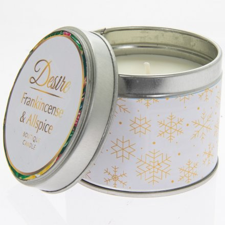 Frankincense & Allspice Desire Festive Candle Tin