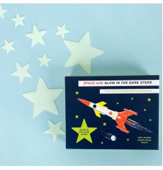 Add a touch of space to any little ones bedroom with this assortment of sized Glow in the Dark Stars