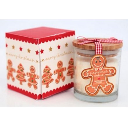 Merry Christmas Gingerbread Candle